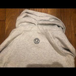 lululemon athletica Tops - Lululemon zip-up sweatshirt, metallic gray - As-is